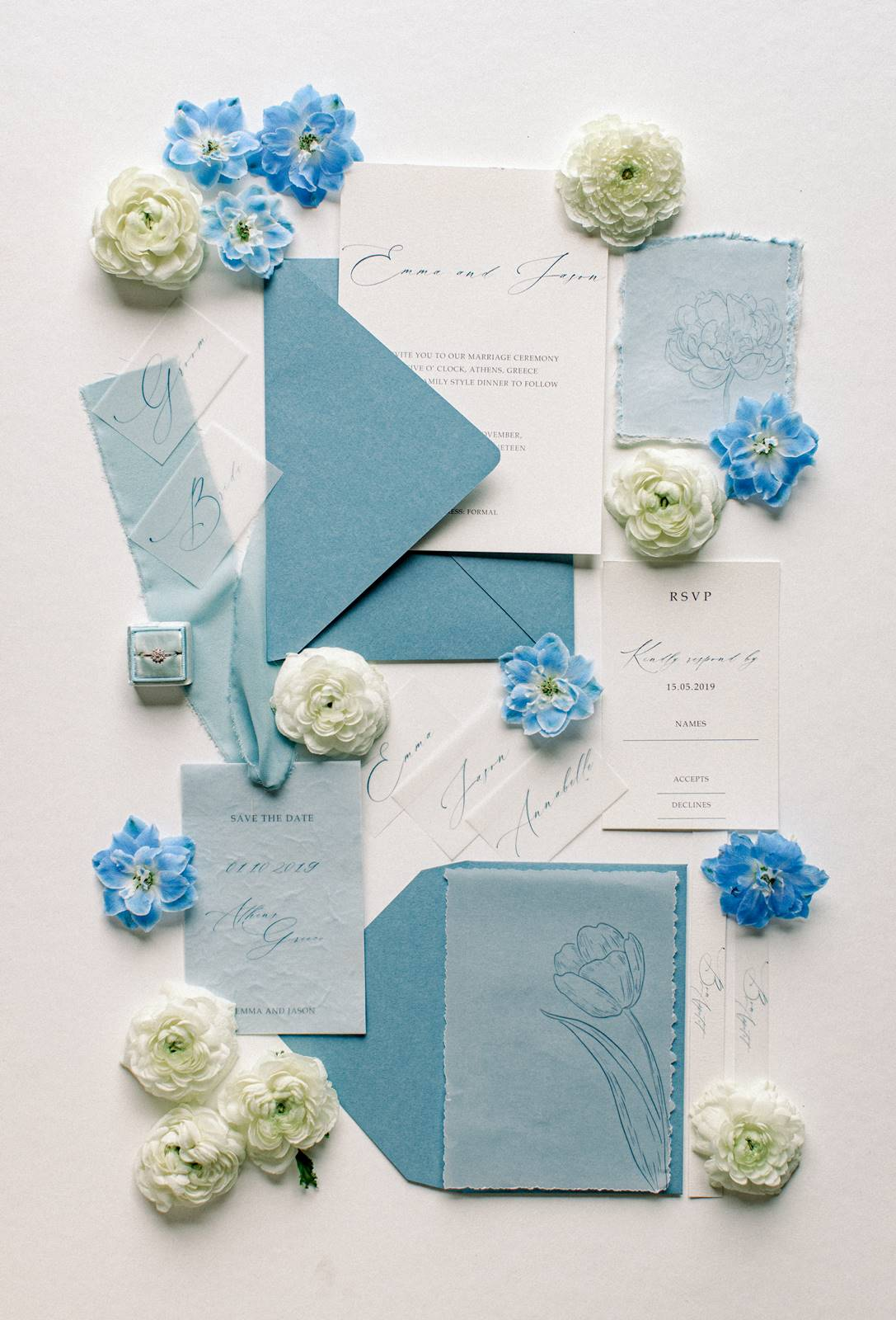 wedding invitations flat lay styling design tips