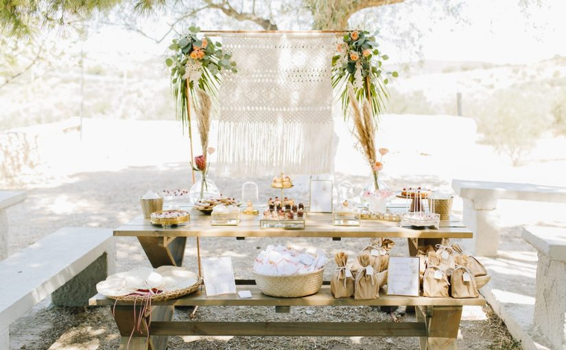 bohemian chic outdoor event
